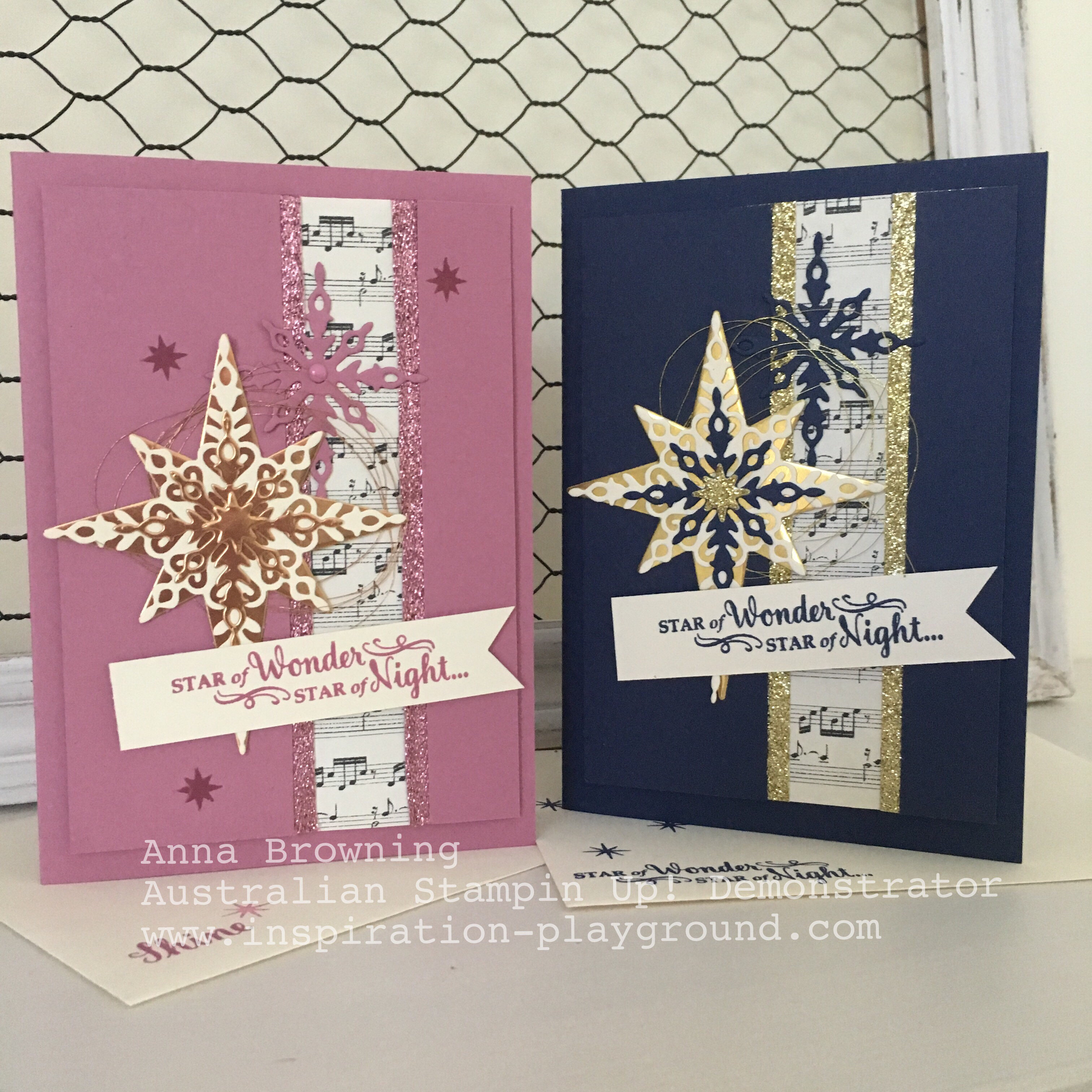 Non-traditional coloured Christmas Cards | Inspiration Playground